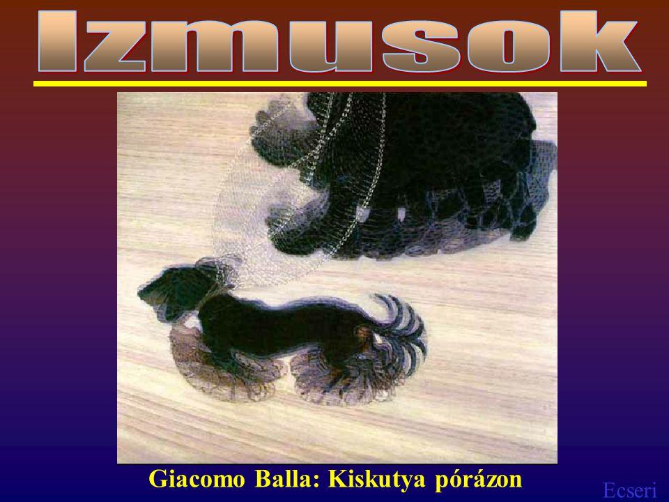 Izmusok Giacomo Balla: Kiskutya pórázon
