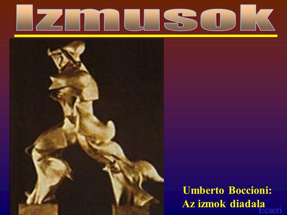 Izmusok Umberto Boccioni: Az izmok diadala