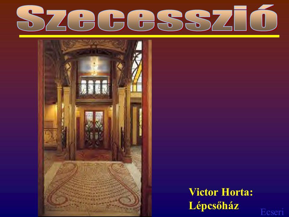 Szecesszió Victor Horta: Lépcsőház
