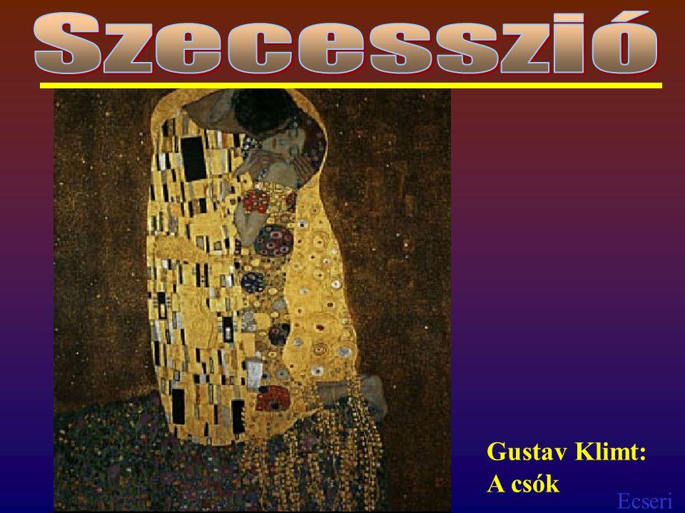 Szecesszió Gustav Klimt: A csók