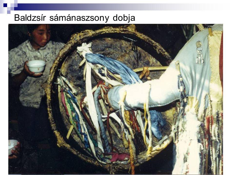 Baldzsír sámánaszsony dobja