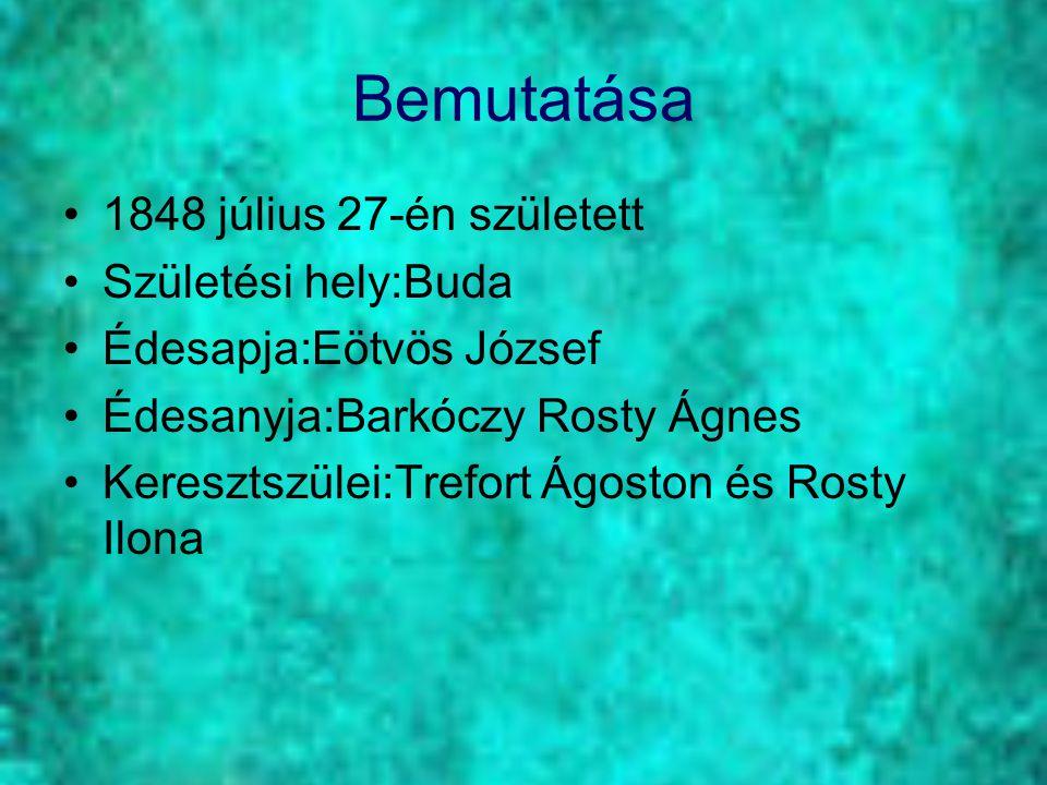 Bemutatása 1848 július 27-én született Születési hely:Buda