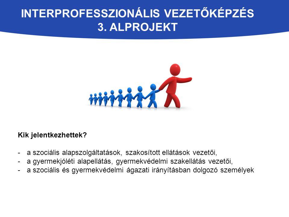 Interprofesszionális vezetőképzés 3. alprojekt