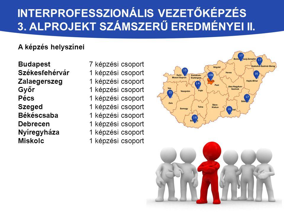 Interprofesszionális vezetőképzés 3. alprojekt számszerű eredményei II.
