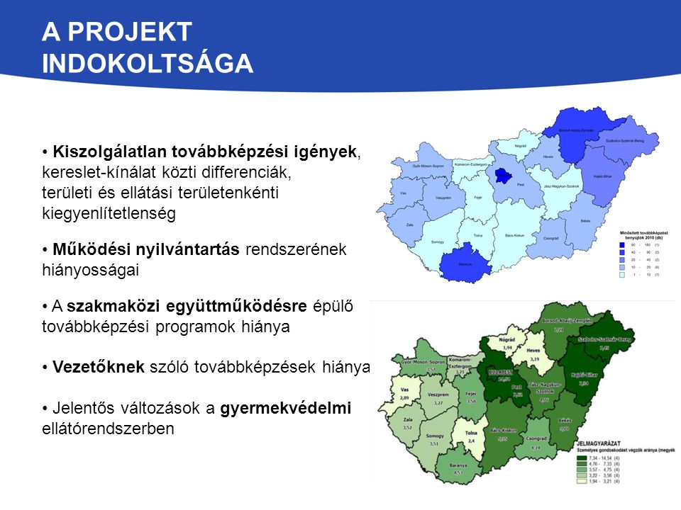 A projekt indokoltsága
