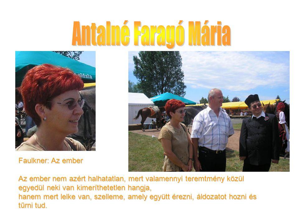 Antalné Faragó Mária Faulkner: Az ember