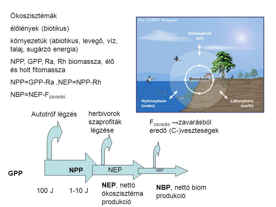 környezetük (abiotikus, levegő, víz, talaj, sugárzó energia)