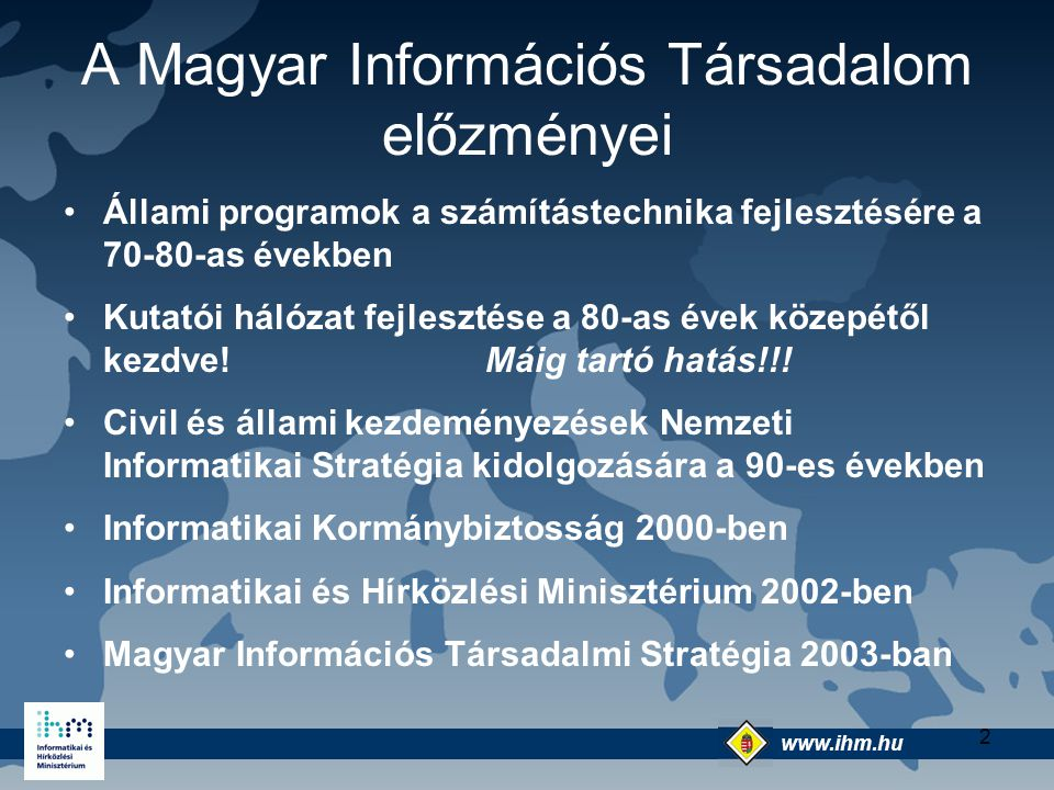 A Magyar Információs Társadalom előzményei