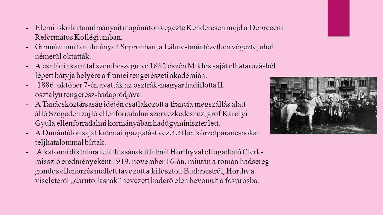 Elemi iskolai tanulmányait magánúton végezte Kenderesen majd a Debreceni Református Kollégiumban.