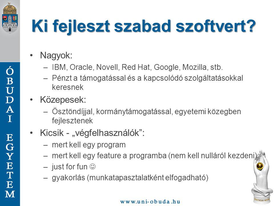 Ki fejleszt szabad szoftvert