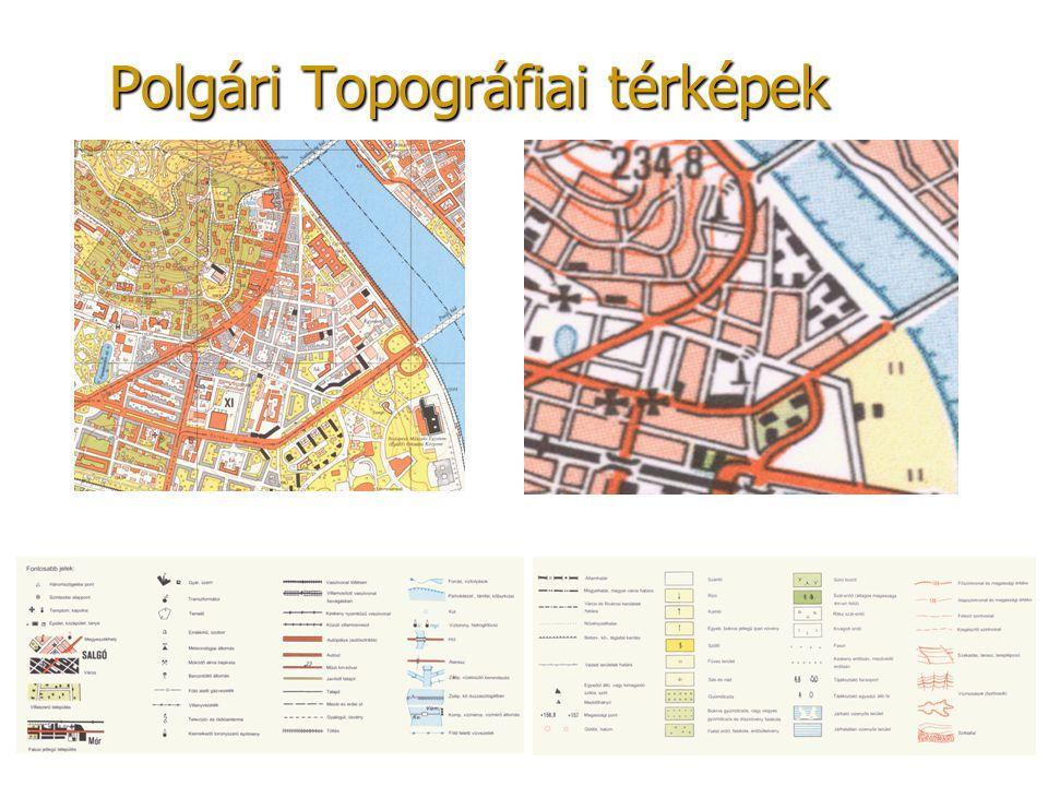 Polgári Topográfiai térképek