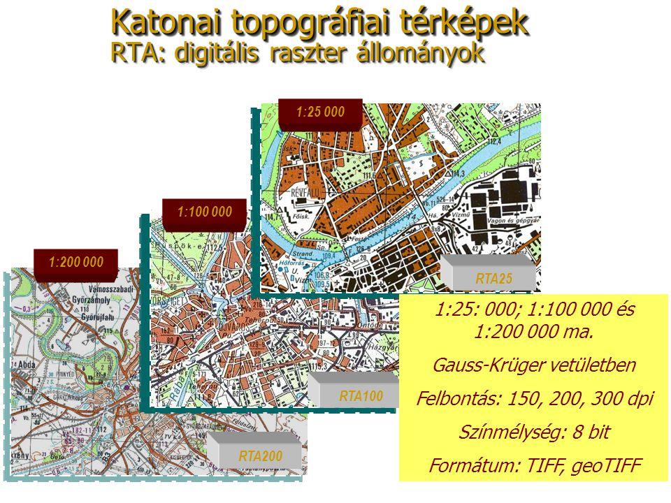 Katonai topográfiai térképek RTA: digitális raszter állományok