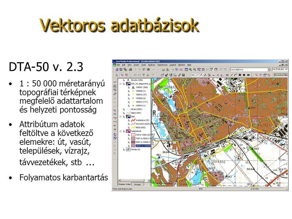 Vektoros adatbázisok DTA-50 v. 2.3
