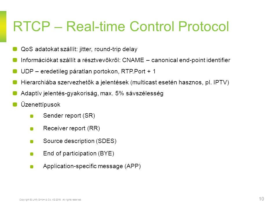 RTCP – Real-time Control Protocol