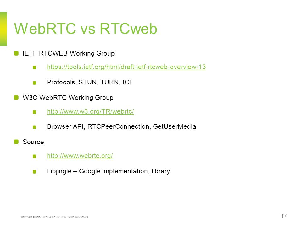 WebRTC vs RTCweb IETF RTCWEB Working Group