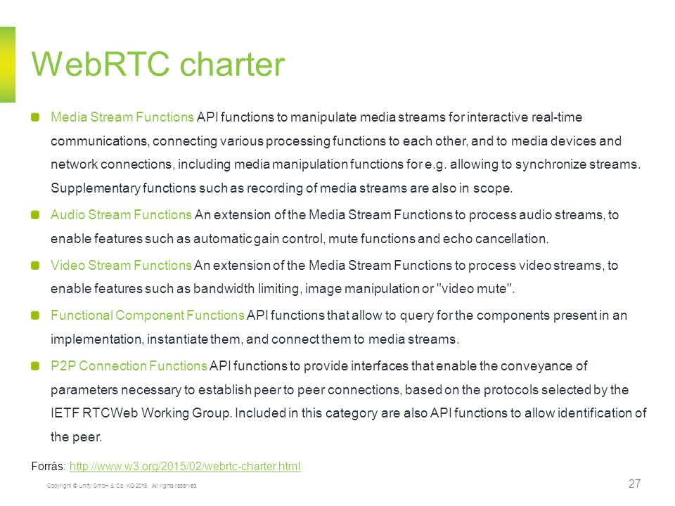 WebRTC charter