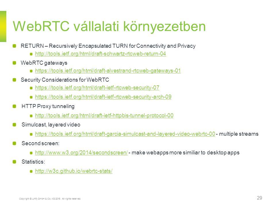 WebRTC vállalati környezetben