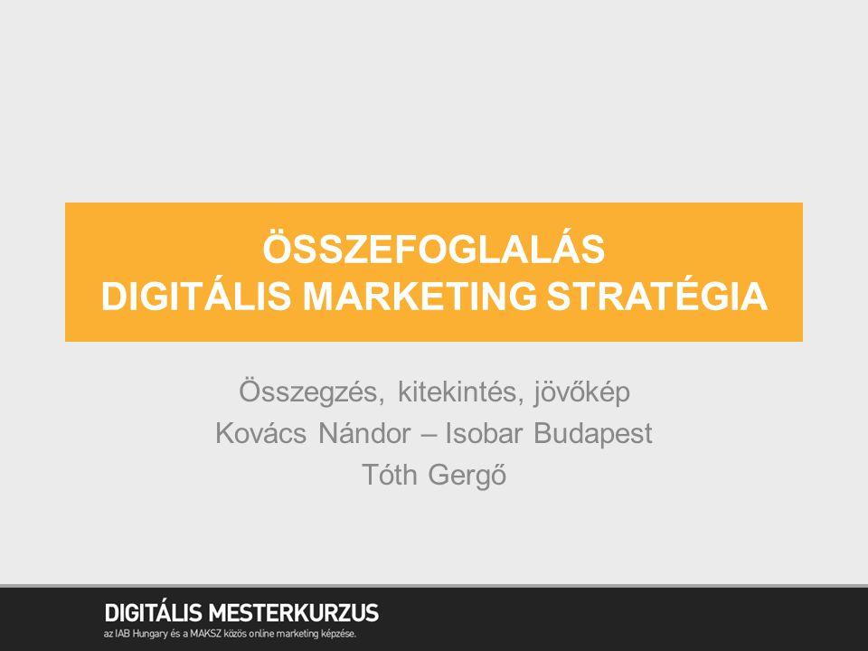 Összefoglalás digitális marketing stratégia