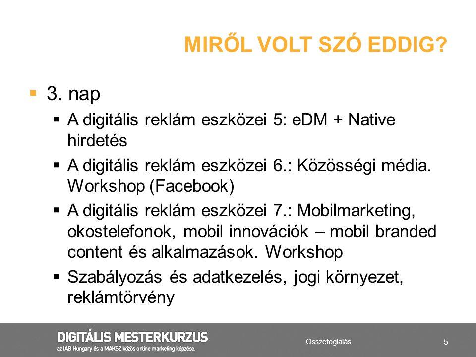 MIRŐL VOLT SZÓ EDDIG 3. nap
