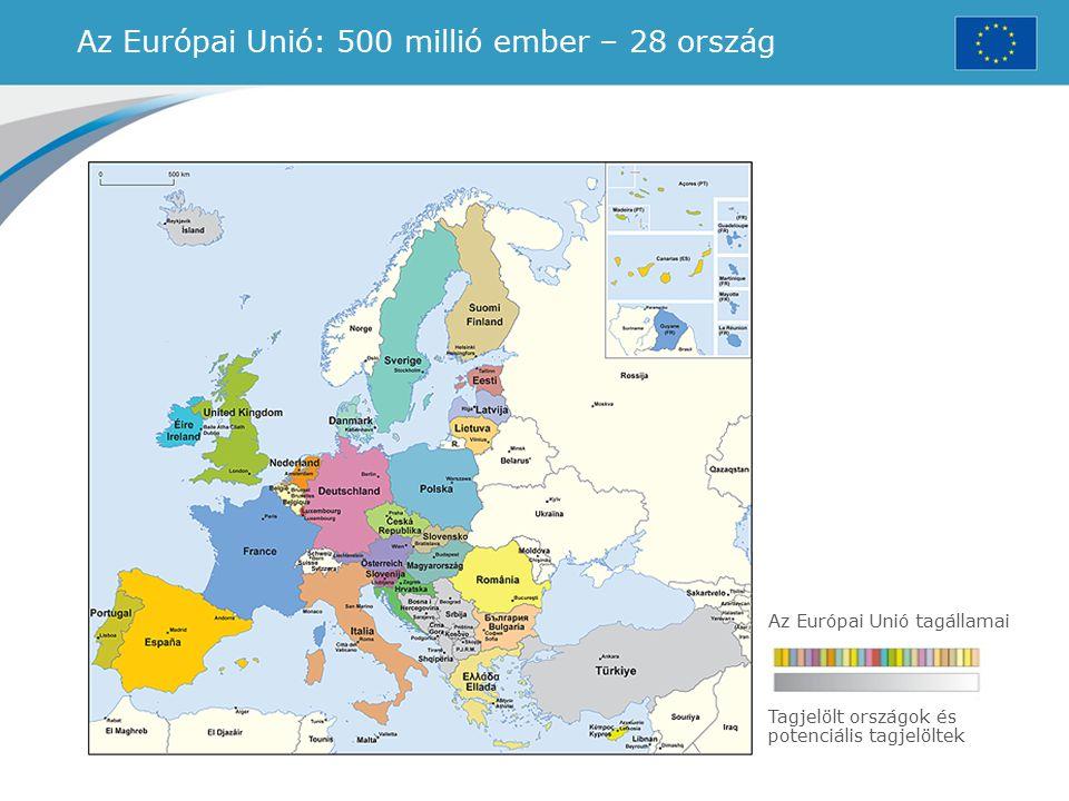 Az Európai Unió: 500 millió ember – 28 ország