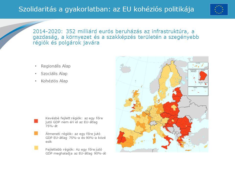 Szolidaritás a gyakorlatban: az EU kohéziós politikája