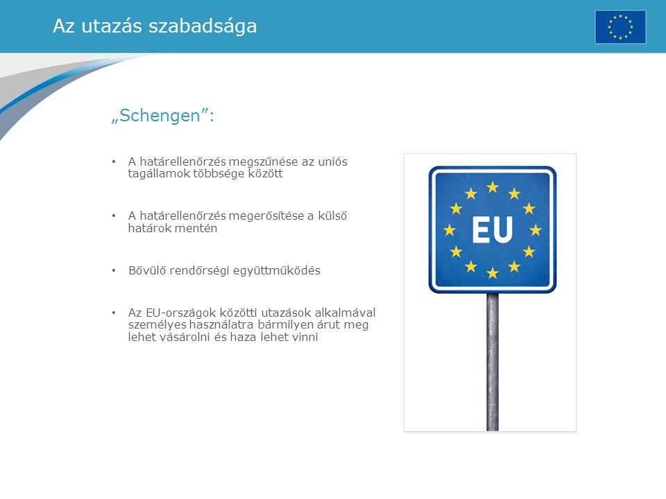 """Az utazás szabadsága """"Schengen :"""