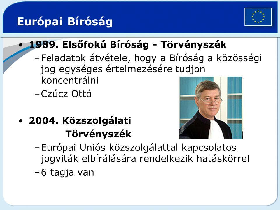 Európai Bíróság 1989. Elsőfokú Bíróság - Törvényszék