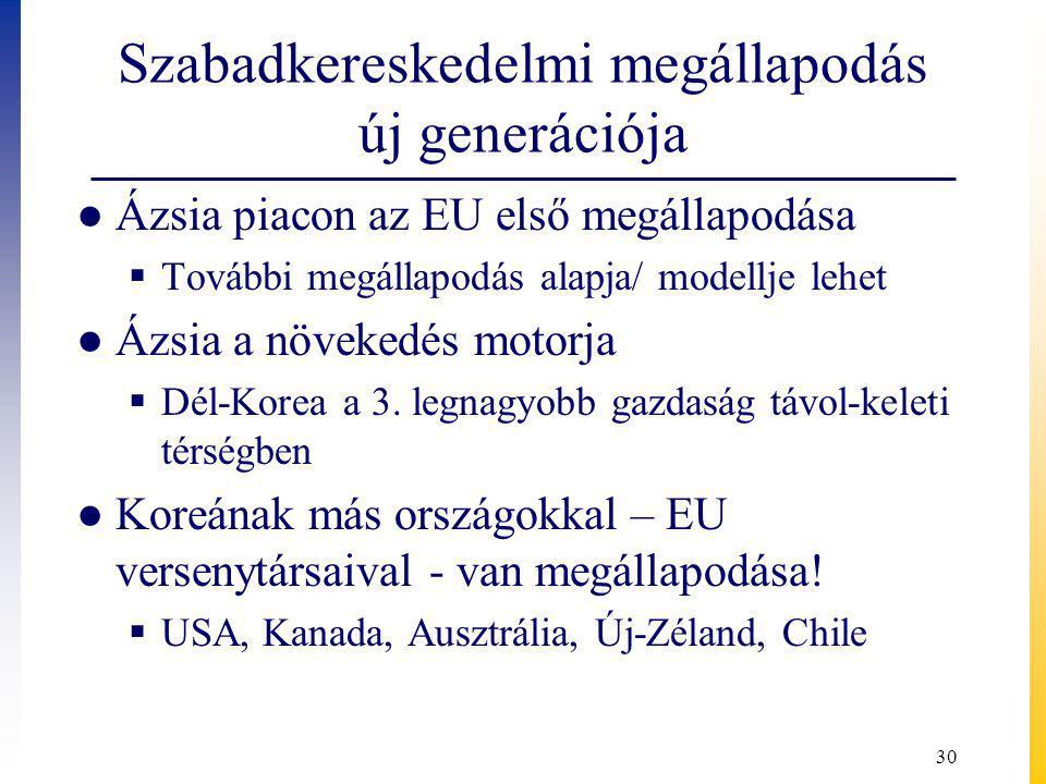 Szabadkereskedelmi megállapodás új generációja