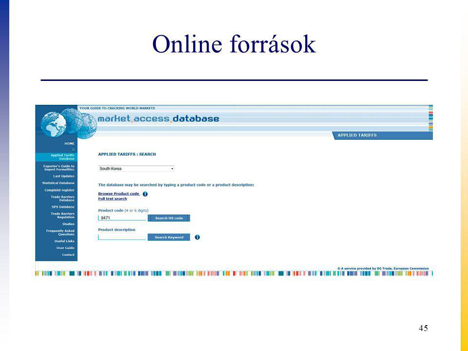 Online források