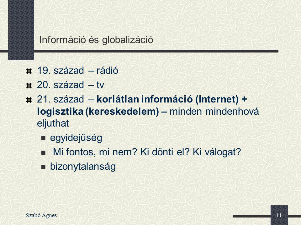 Információ és globalizáció