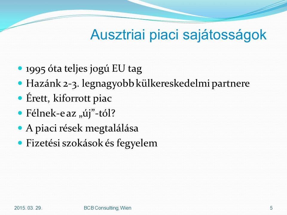 Ausztriai piaci sajátosságok