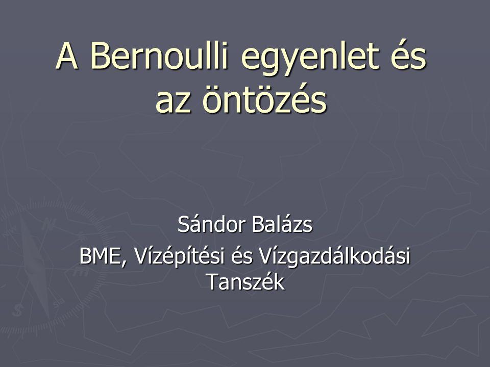 A Bernoulli egyenlet és az öntözés