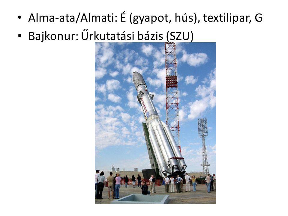Alma-ata/Almati: É (gyapot, hús), textilipar, G