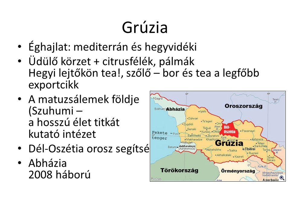 Grúzia Éghajlat: mediterrán és hegyvidéki