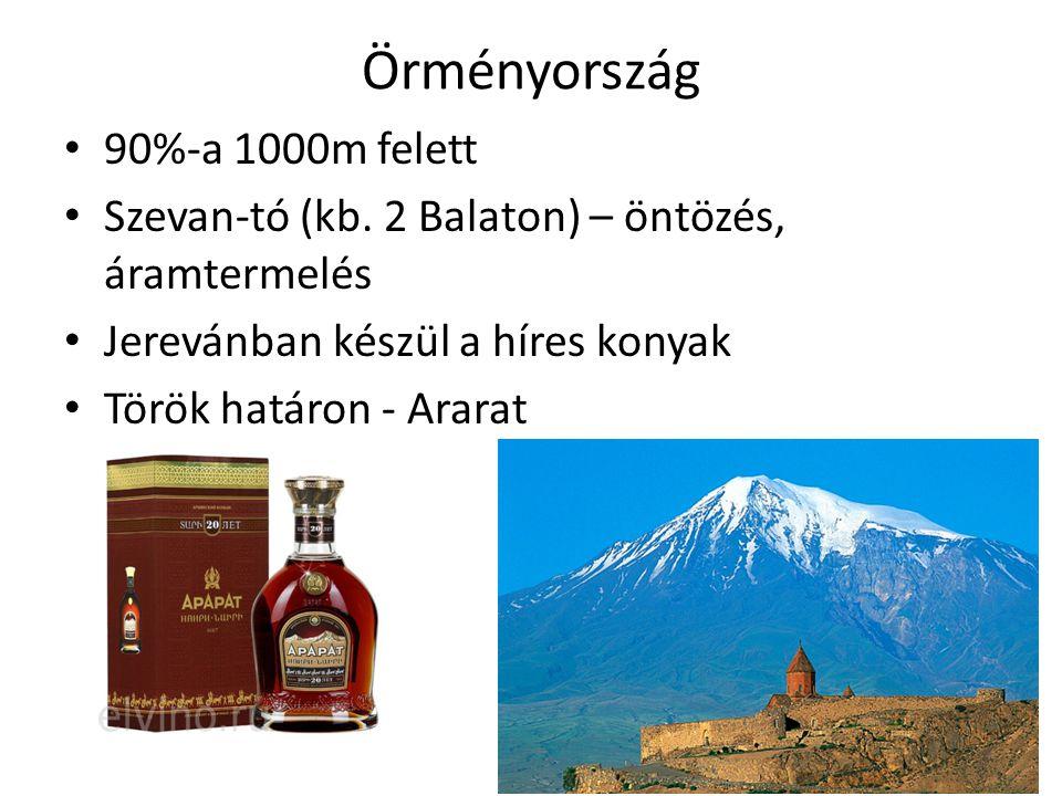 Örményország 90%-a 1000m felett