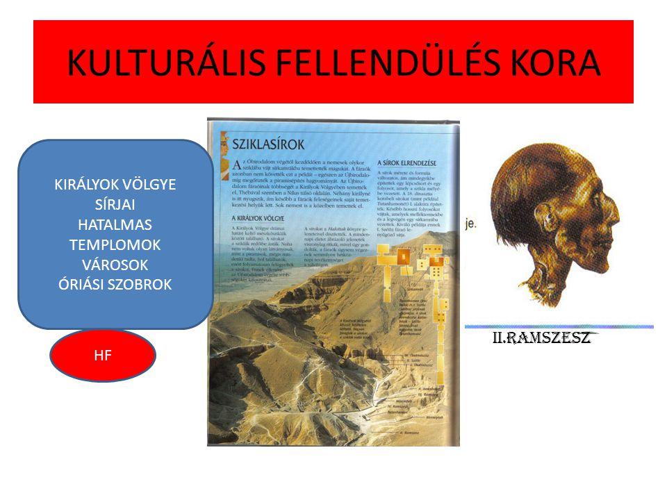 KULTURÁLIS FELLENDÜLÉS KORA