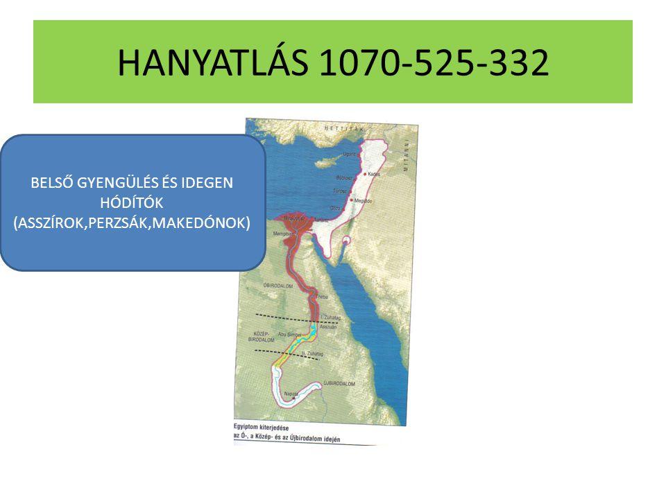 HANYATLÁS 1070-525-332 BELSŐ GYENGÜLÉS ÉS IDEGEN HÓDÍTÓK