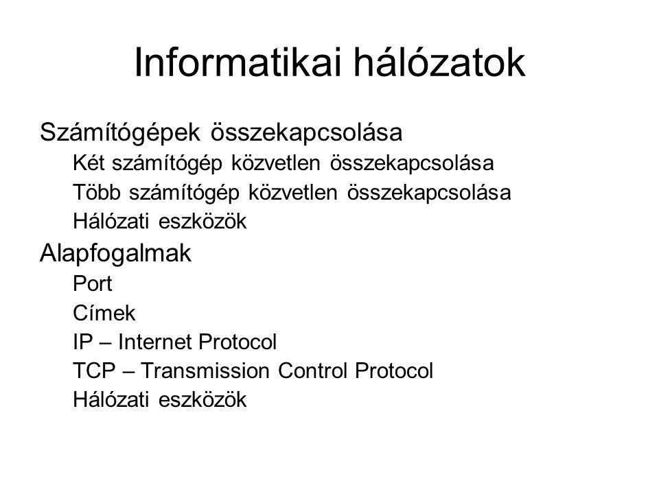 Informatikai hálózatok