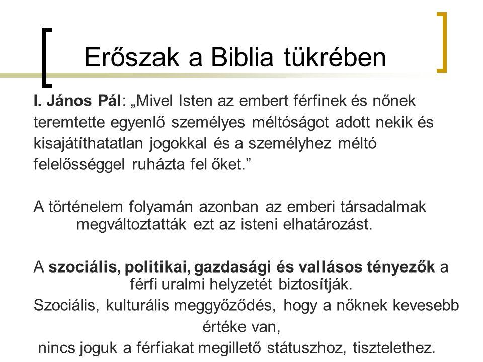 Erőszak a Biblia tükrében