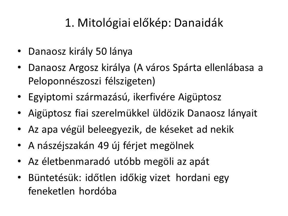 1. Mitológiai előkép: Danaidák