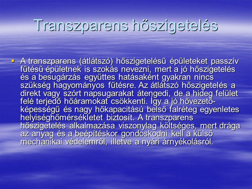 Transzparens hőszigetelés