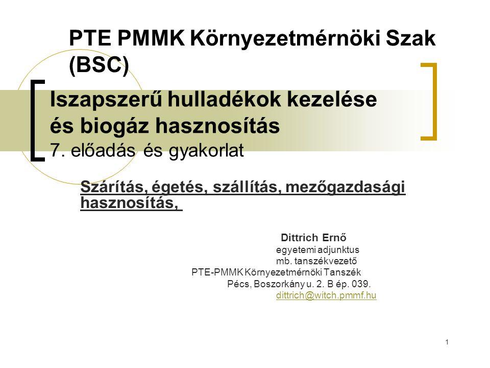 PTE PMMK Környezetmérnöki Szak (BSC)