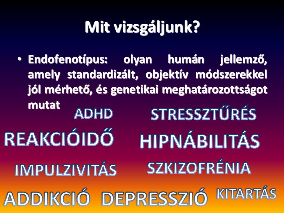 REAKCIÓIDŐ HIPNÁBILITÁS ADDIKCIÓ DEPRESSZIÓ