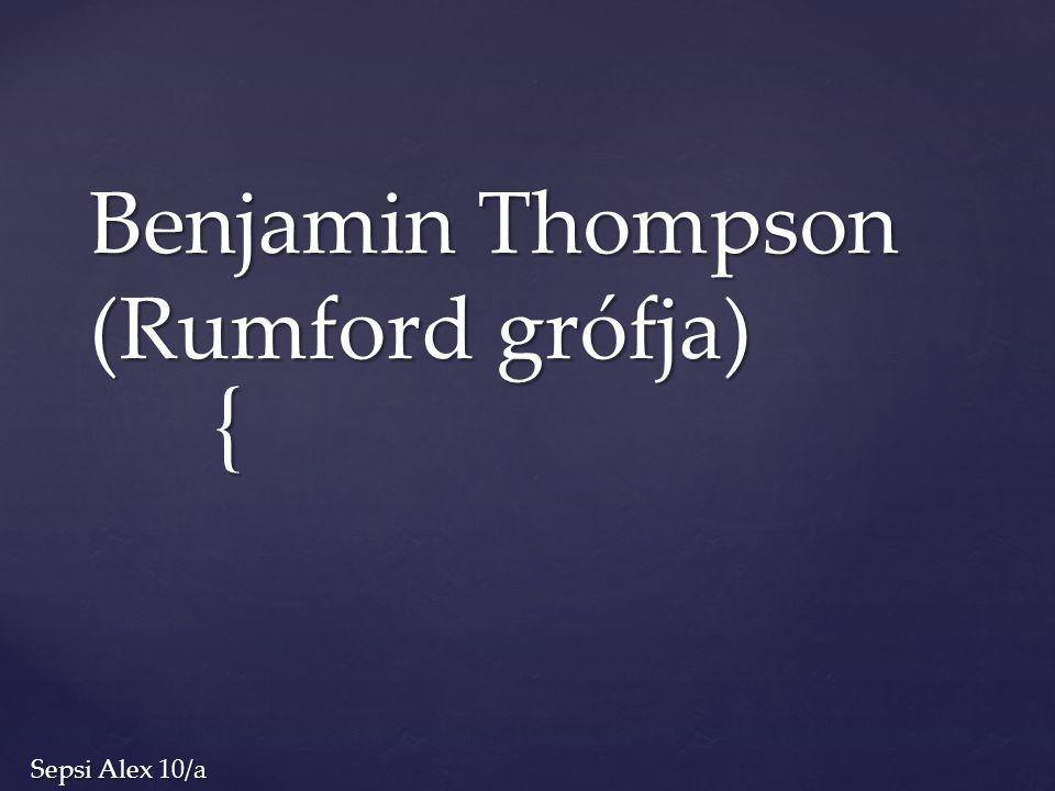 Benjamin Thompson (Rumford grófja)