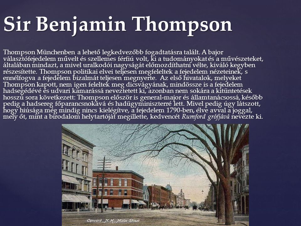 Sir Benjamin Thompson