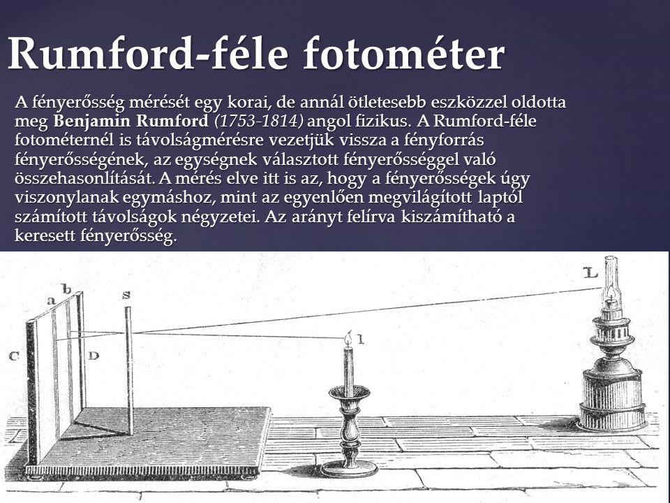 Rumford-féle fotométer