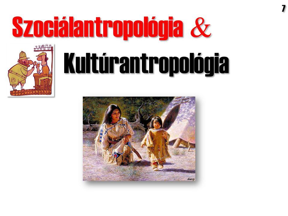 Szociálantropológia  Kultúrantropológia