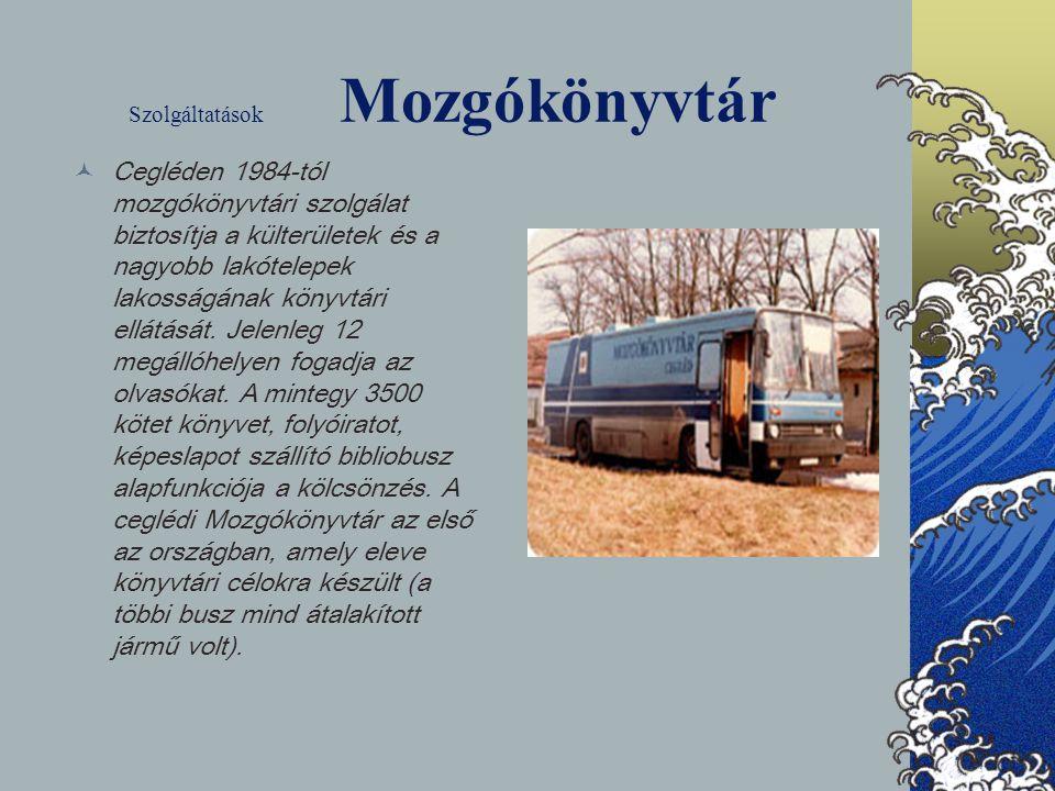 Szolgáltatások Mozgókönyvtár