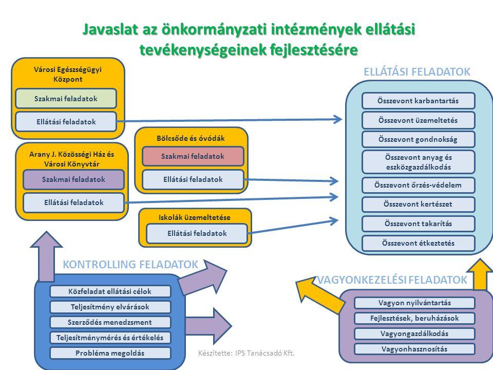 Javaslat az önkormányzati intézmények ellátási tevékenységeinek fejlesztésére
