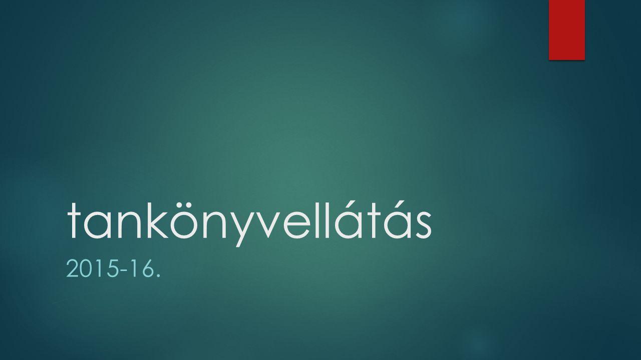 tankönyvellátás 2015-16.